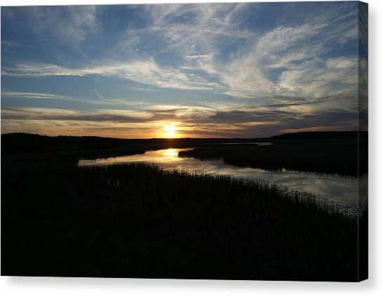 Sunset On The Totagatic Canvas Print