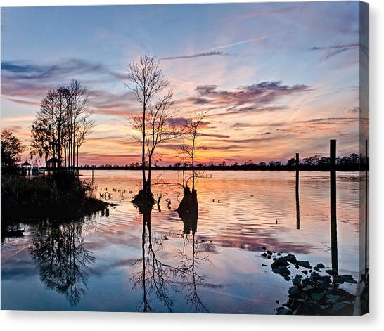 Sunset On The Waccamaw Canvas Print