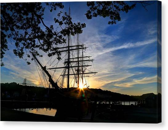 Sunset On The Whalers Canvas Print