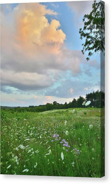 Prairie Sunrises Canvas Print - Sunset On Thunderhead Over Boone Creek Conservation Area by Ray Mathis