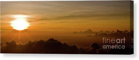 Sunset On Top Of Haleakala Canvas Print by Denis Dore