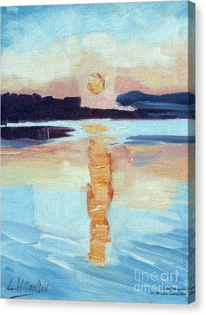 Sunset On Vancouver Island Canvas Print