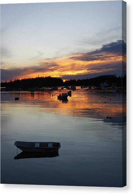 Sunset On Vinalhaven Maine Canvas Print
