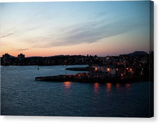 Sunset Over Alaska Canvas Print