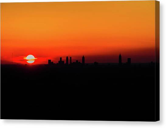 Sunset Over Atlanta Canvas Print