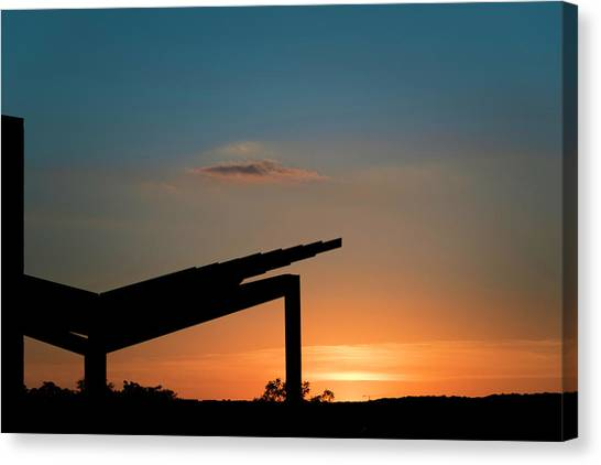 Sunset Over Austin City Limits Festival Week One 2017 Canvas Print