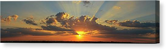 Sunset Over Austin Canvas Print