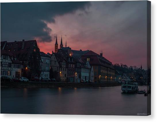 Lake Sunsets Canvas Print - Sunset Over Bamberg by Photo Escape