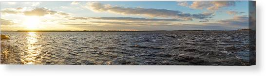 Canvas Print featuring the photograph Sunset Over Cape Fear River by Willard Killough III