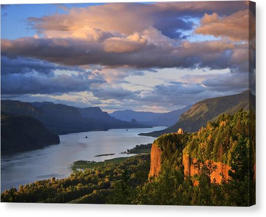 Sunset Over Crown Point Canvas Print