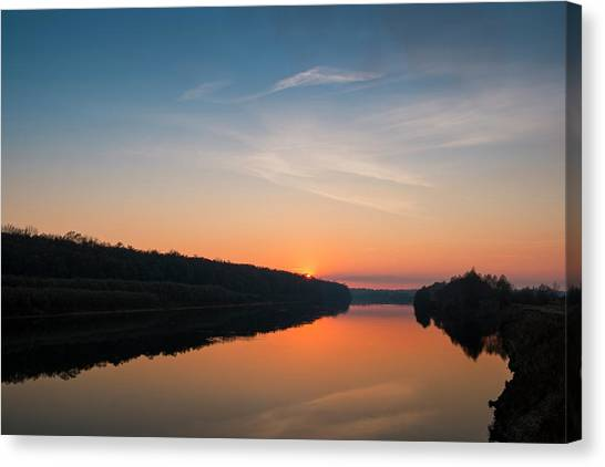 Sunset Over Desna River. Horytsya, 2014. Canvas Print