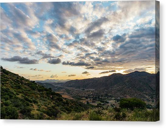 Sunset Over El Monte Valley Canvas Print