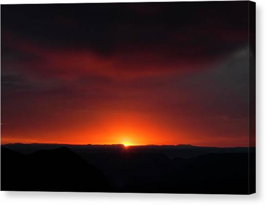 Sunset Over Grand Canyon Canvas Print