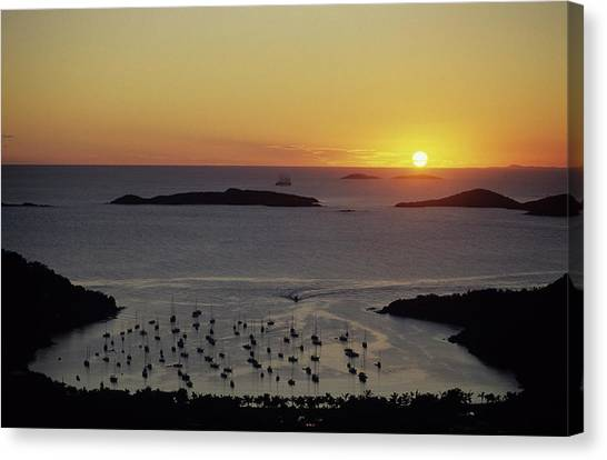 Sunset Over Great Cruz Bay Canvas Print