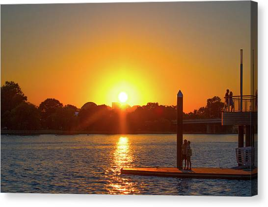 Sunset Over Hains Point Canvas Print