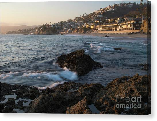 Sunset Over Laguna Beach   Canvas Print