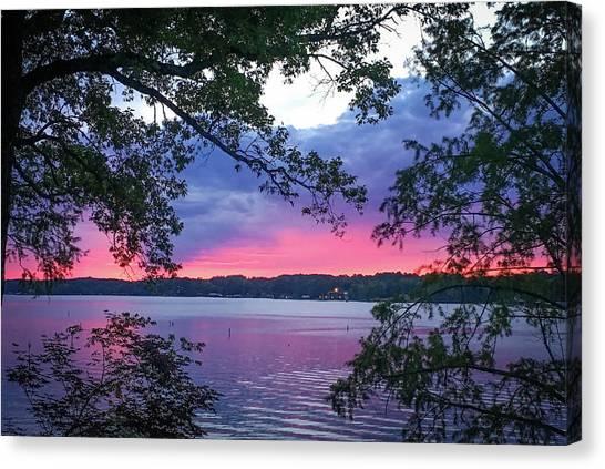 Sunset Over Lake Cherokee Canvas Print