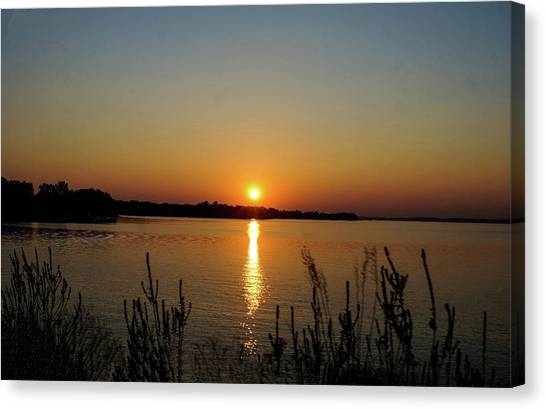 Sunset Over Lake Norman Canvas Print