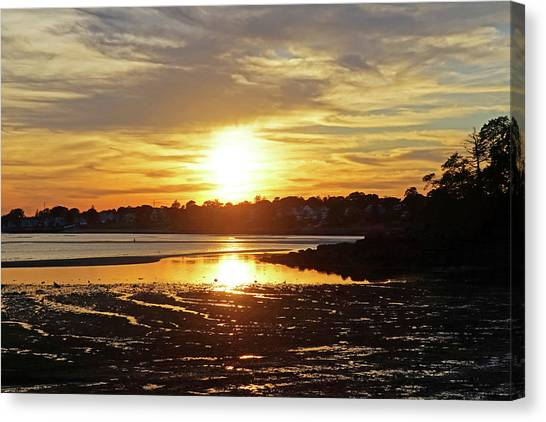 Sunset Over Lynch Park Beverly Ma Canvas Print