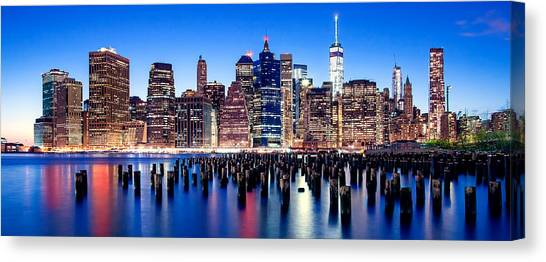New York Skyline Canvas Print - Magic Manhattan by Az Jackson