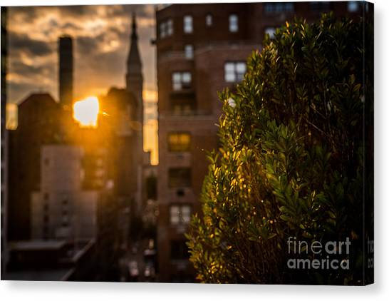 Sunset Over Manhattan New York City Canvas Print