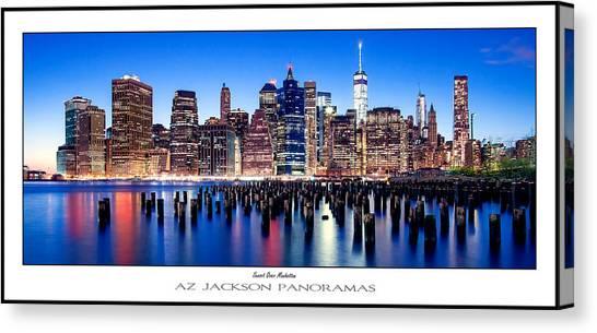 Big East Canvas Print - Sunset Over Manhattan Poster Print by Az Jackson
