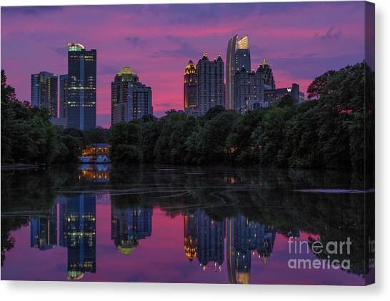 Sunset Over Midtown Canvas Print