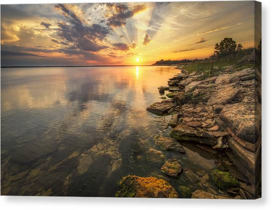 Sunset Over Milford Lake Canvas Print