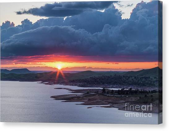 Sunset Over Millerton Lake  Canvas Print