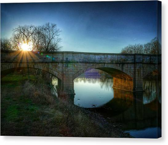 Sunset Over Monocacy Canvas Print