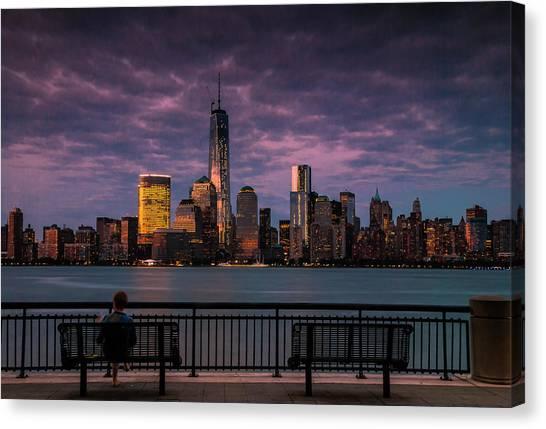 Sunset Over New World Trade Center New York City Canvas Print