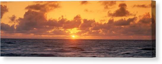 Sunrise Horizon Canvas Print - Sunset Over Ocean, Hawaii by Panoramic Images