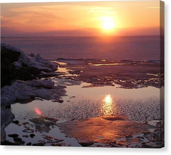 Sunset Over Oneida Lake - Horizontal Canvas Print