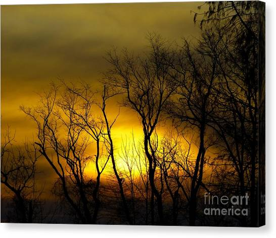 Sunset Over Our Free Land Canvas Print