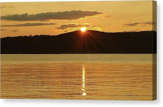 Sunset Over Piermont Canvas Print