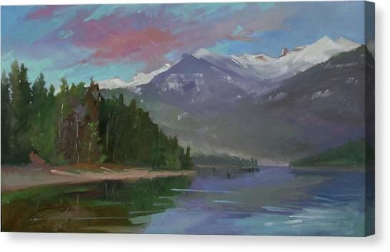 Sunset Over Priest Lake, Id Canvas Print