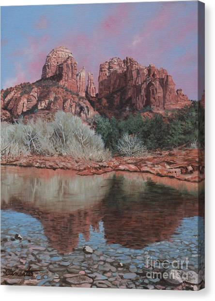 Sunset Over Red Rocks Of Sedona  Canvas Print