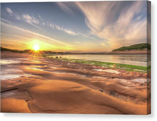 Sunset Over River Ythan Canvas Print