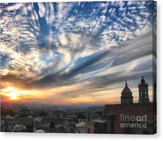 Sunset Over San Miguel De Allende Canvas Print