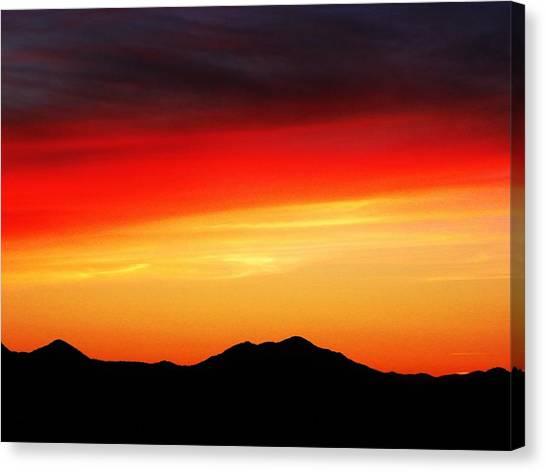 Sunset Over Santa Fe Mountains Canvas Print
