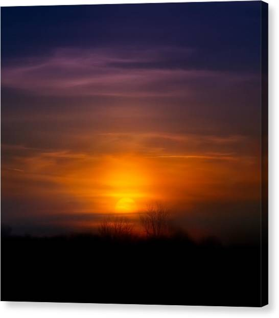 Bold Canvas Print - Sunset Over Scuppernong Springs by Scott Norris
