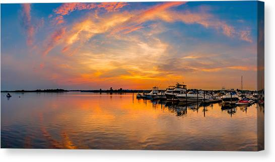 Sunset Over Shrewsbury Bay Canvas Print