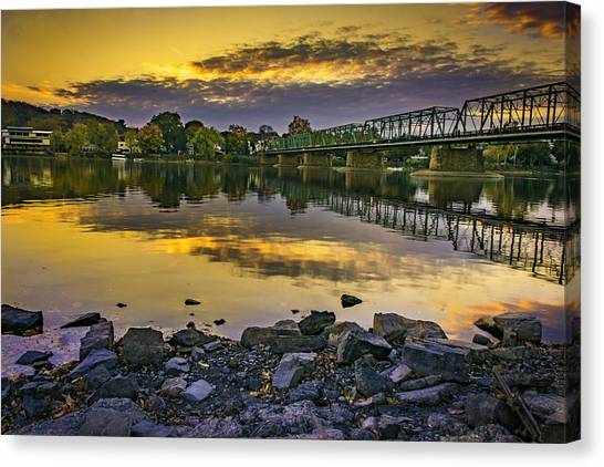 Sunset Over The Bridge Canvas Print