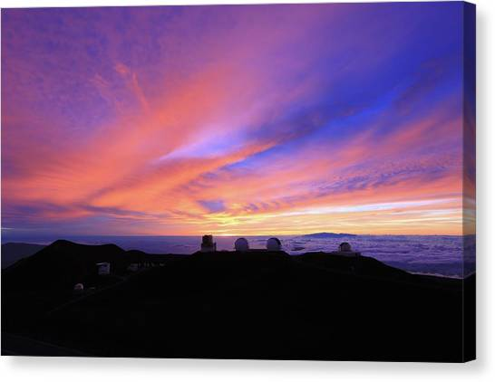 Sunset Over The Clouds Canvas Print