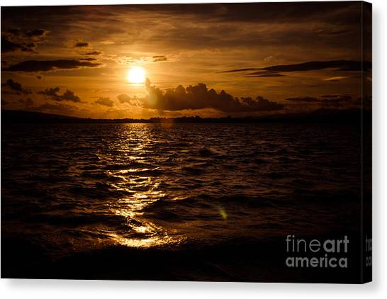 Sunset Over The Cunnigar Canvas Print