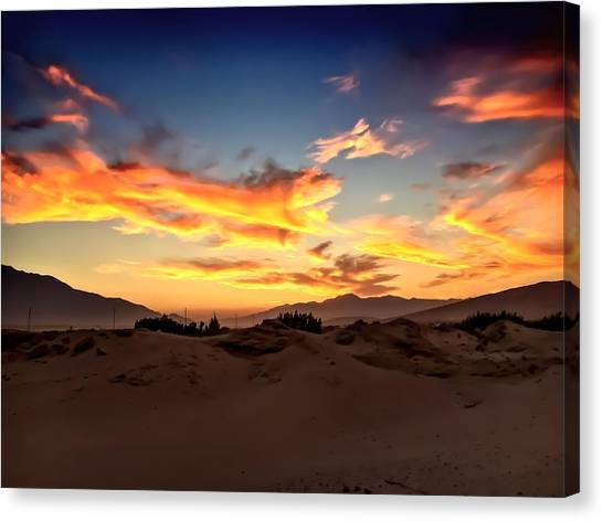 Sunset Over The Desert Canvas Print