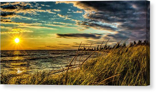 Sunset Over The Great Lake Canvas Print