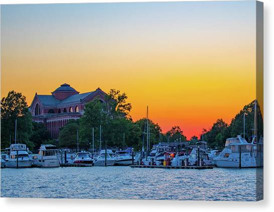 Sunset Over The National War College  Canvas Print