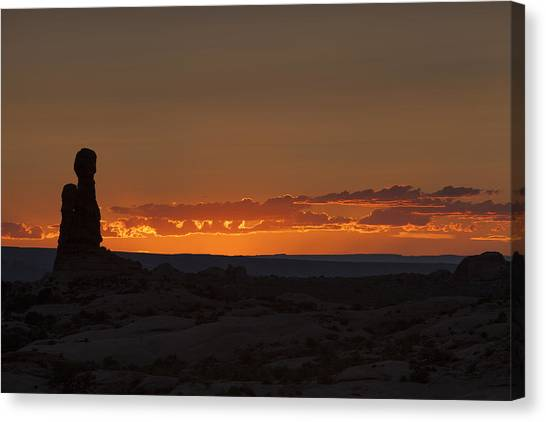 Sunset Over The Petrified Dunes Canvas Print