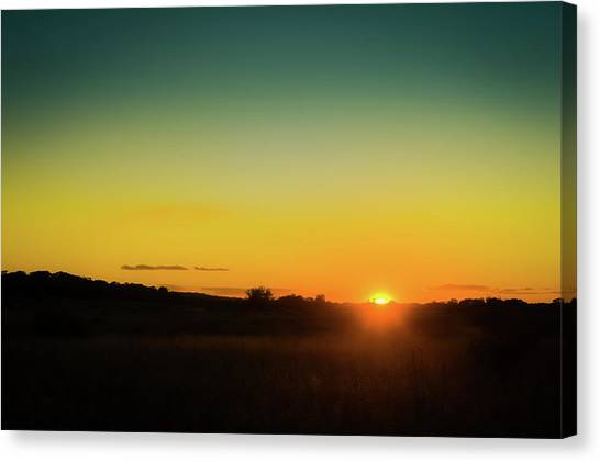 Sunset Horizon Canvas Print - Sunset Over The Prairie by Scott Norris